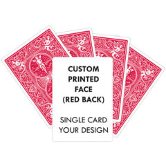 CUSTOM PRINTED BICYCLE RED BACK PLAYING CARD