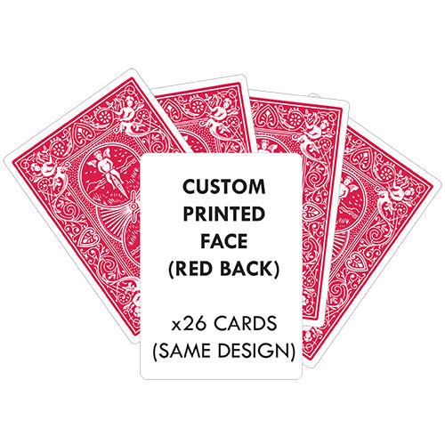 Custom Printed Playing Card (RED Back) x26 CARDS