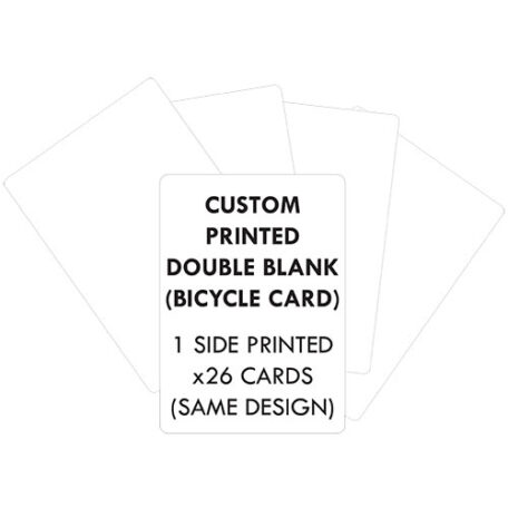 Personalised double blank bicycle cards printed