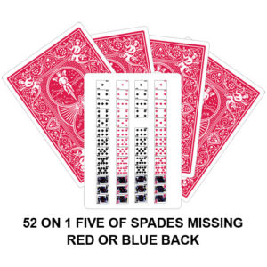 52 On 1 Five Of Spades Missing Gaff Card