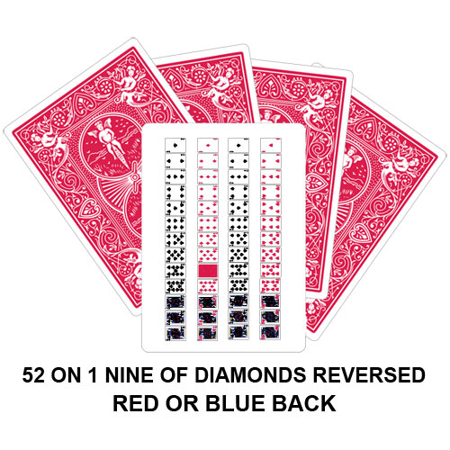 52 On 1 Nine Of Diamonds Reversed Playing Card Gaff Magic