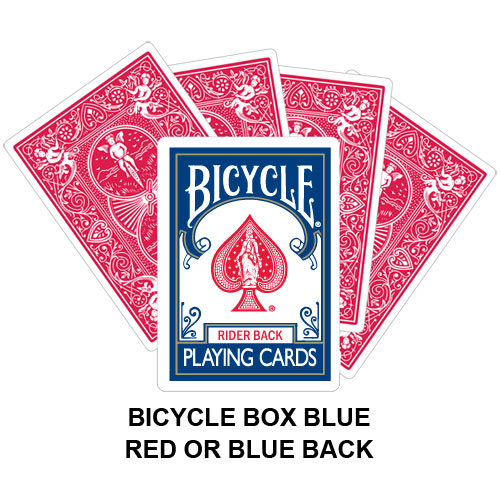 bicycle box blue playing card gaff magic. Black Bedroom Furniture Sets. Home Design Ideas