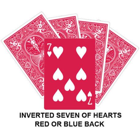 Inverter Seven Of Hearts Gaff Card