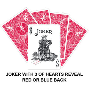 Joker With Three Of Hearts Reveal Gaff Card
