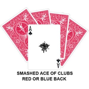 Smashed Ace Of Clubs Gaff Card