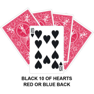 Black Ten Of Hearts Gaff Card