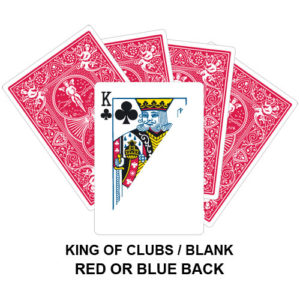 King Of Clubs And Blank Gaff Card
