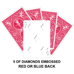 Five Of Diamonds Embossed Gaff Card