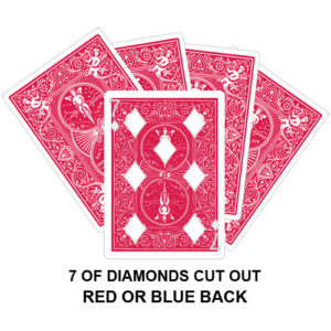 Seven Of Diamonds Cut Out Gaff Card