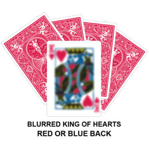 Blurred King Of Hearts Gaff Card