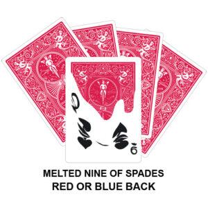 Melted Nine Of Spades Gaff Card