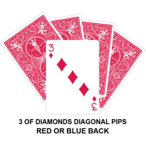 Three Of Diamonds Diagonal Pips Gaff Playing Card