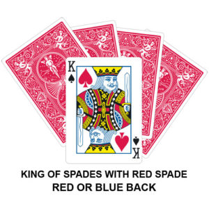 King Of Spades With Red Spade Gaff Playing Card