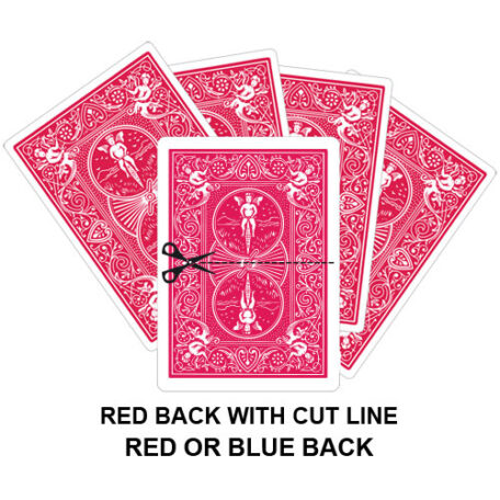 Red Back With Cut Line Gaff Playing Card
