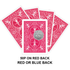 50p On Red Back Gaff Playing Card