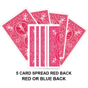 Five Card Spread Red Back Gaff Playing Card