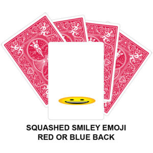 Squashed Smiley Emoji Gaff Playing Card