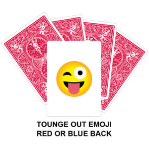 Tongue Out Emoji Gaff Playing Card