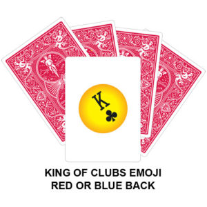 King Of Clubs Emoji Gaff Playing Card