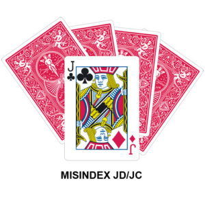 Mis Indexed JD/JC gaff card