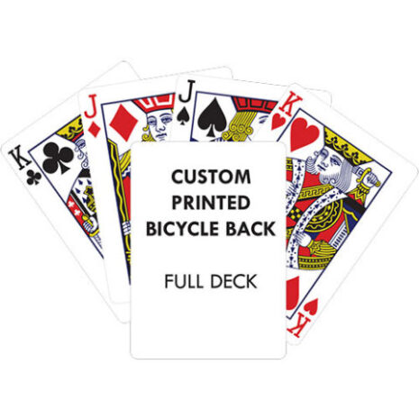 BLANK BACK BICYCLE FULL DECK PRINTED