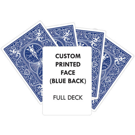 custom printed blue back full deck