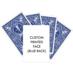 Custom Printed Bicycle Cards Blue Personalised