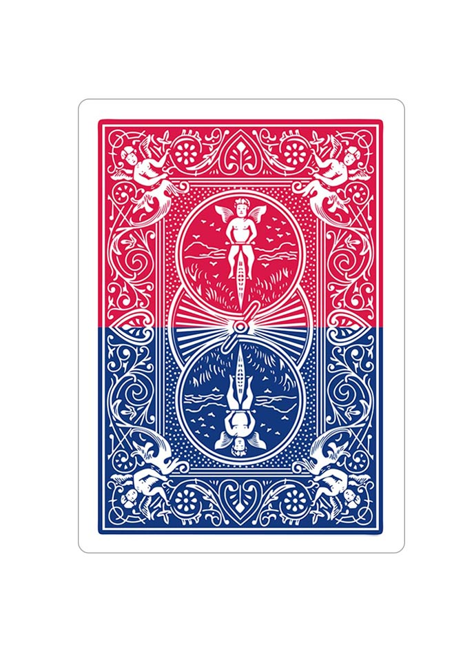 Red Blue Gimmicked Horizontal Bicycle Playing Card