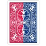 Vertical Split bicycle red blue backed bicycle playing cards