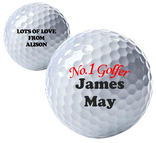 No.1 Golfer Personalised Golf Balls