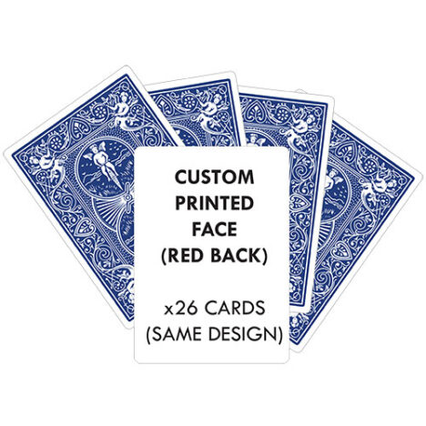 26 PERSONALISED BICYCLE PLAYING CARDS BLUE BACKED