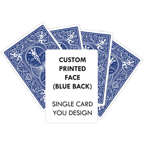 Custom Printed Single Card (BLUE Back) YOUR DESIGN