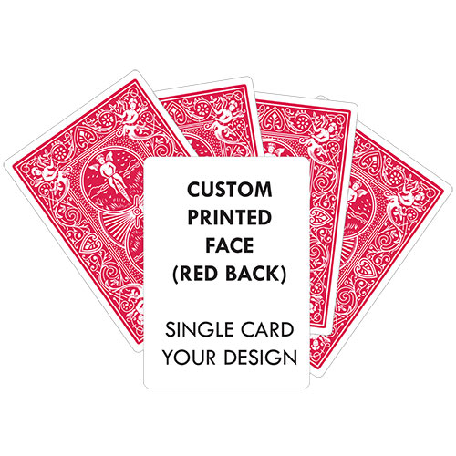 Custom Printed Single Card (RED Back) YOUR DESIGN