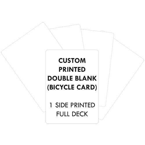 Custom Printed Bicycle (Double Blank) Full Deck