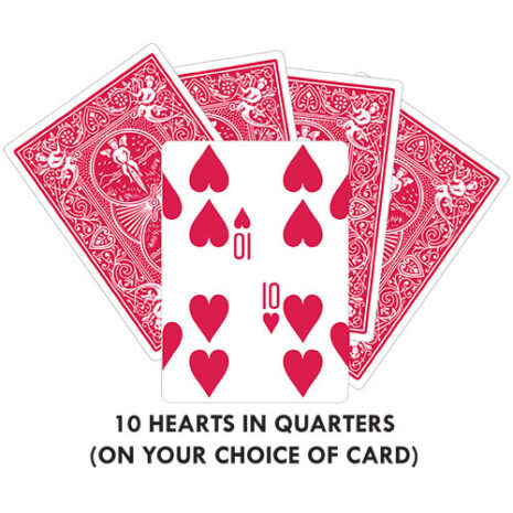 10 Hearts In Quarters GAFF CARD