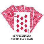 Eleven Of Diamonds Gaff Card