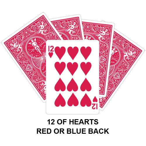 Twelve Of Hearts Gaff Card