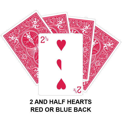 Two And Half Of Hearts playing card gaff magic