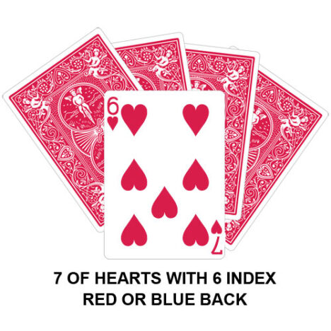 Seven Of Hearts With Six Index Gaff Card
