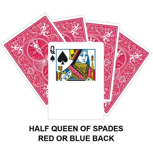 Half Queen Of Spades Gaff Card