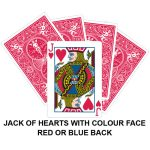 Jack Of Hearts With Colour Face Gaff Card