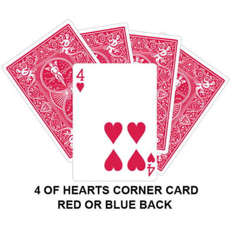 four of hearts corner gaff card