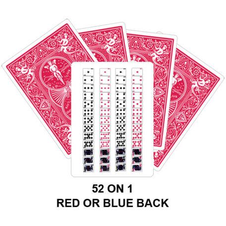 52 On 1 Card Gaff Card