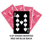 Nine Of Spades Inverted Gaff Card