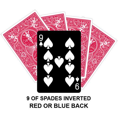 Nine Of Spades Inverted Gaff Card