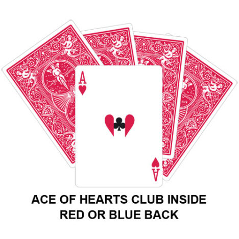 Ace Of Hearts Club Inside Gaff Card