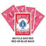 Bicycle Box Red Gaff Card