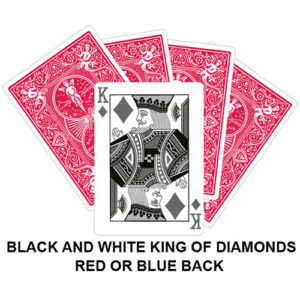 Black And White King OF Diamonds Gaff Card