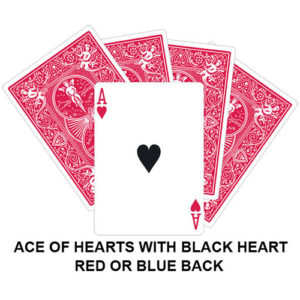 Black Heart Ace Gaff Card