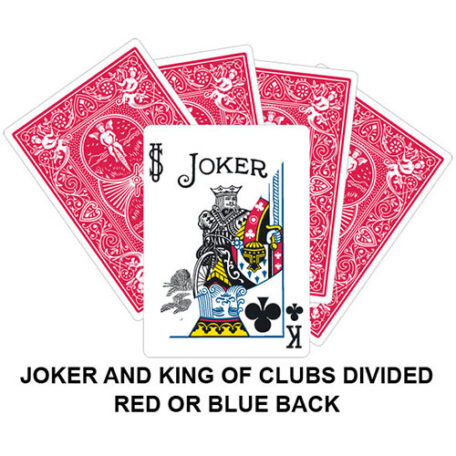 Joker And King Of Diamonds Divided Gaff Card